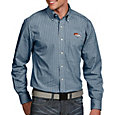 Antigua Men's Denver Broncos Associate Button Down Dress Shirt