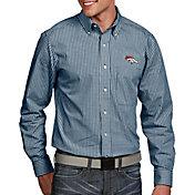 Antigua Men's Denver Broncos Associate Button Down Dress Shirt