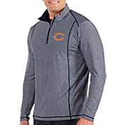 Antigua Men's Chicago Bears Tempo Navy Quarter-Zip Pullover