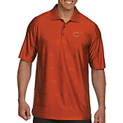 Antigua Men's Chicago Bears Illusion Orange Xtra-Lite Polo