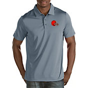 Antigua Men's Cleveland Browns Quest Grey Polo