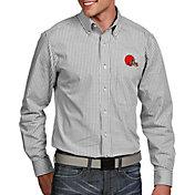 Antigua Men's Cleveland Browns Associate Button Down Dress Shirt