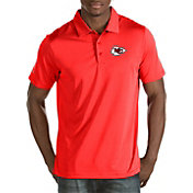 Antigua Men's Kansas City Chiefs Quest Red Polo