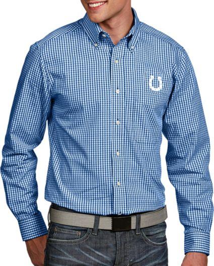 dff0071c Antigua Men's Indianapolis Colts Associate Button Down Dress Shirt