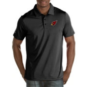 Antigua Men's Arizona Cardinals Quest Black Polo