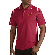 Antigua Men's Arizona Cardinals Merit Red Xtra-Lite Polo