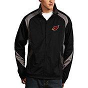 Antigua Men's Arizona Cardinals Tempest Black Full-Zip Jacket