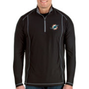 Antigua Men's Miami Dolphins Tempo Black Quarter-Zip Pullover