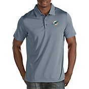 Antigua Men's Miami Dolphins Quest Grey Polo