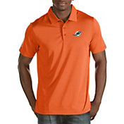 Antigua Men's Miami Dolphins Quest Orange Polo