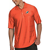 Antigua Men's Miami Dolphins Illusion Orange Xtra-Lite Polo