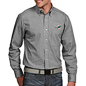 Antigua Men's Miami Dolphins Associate Button Down Dress Shirt