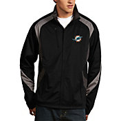 Antigua Men's Miami Dolphins Tempest Black Full-Zip Jacket