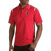Antigua Men's Atlanta Falcons Merit Red Xtra-Lite Polo