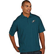 Antigua Men's Philadelphia Eagles Pique Xtra-Lite Teal Polo