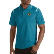 Antigua Men's Jacksonville Jaguars Merit Teal Xtra-Lite Polo