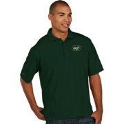 Antigua Men's New York Jets Pique Xtra-Lite Green Polo