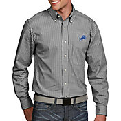 Antigua Men's Detroit Lions Associate Button Down Dress Shirt