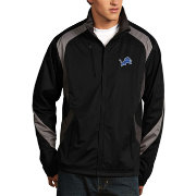 Antigua Men's Detroit Lions Tempest Black Full-Zip Jacket