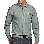 Antigua Men's Green Bay Packers Associate Button Down Dress Shirt