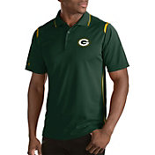 Antigua Men's Green Bay Packers Merit Green Xtra-Lite Polo
