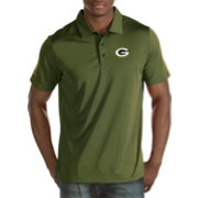 Antigua Men's Green Bay Packers Quest Green Polo