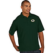 Antigua Men's Green Bay Packers Pique Xtra-Lite Green Polo