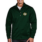 Antigua Men's Green Bay Packers Quick Snap Logo Green Golf Jacket