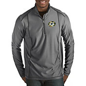 Antigua Men's Green Bay Packers Quick Snap Logo Tempo Grey Quarter-Zip Pullover