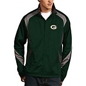 Antigua Men's Green Bay Packers Tempest Green Full-Zip Jacket