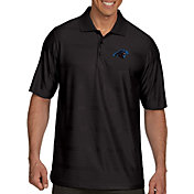 Antigua Men's Carolina Panthers Illusion Black Xtra-Lite Polo