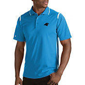 Antigua Men's Carolina Panthers Merit Xtra-Lite Blue Polo