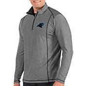 Antigua Men's Carolina Panthers Tempo Grey Quarter-Zip Pullover