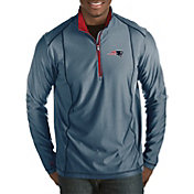 Antigua Men's New England Patriots Tempo Navy Quarter-Zip Pullover