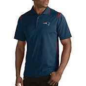 Antigua Men's New England Patriots Merit Navy Xtra-Lite Polo
