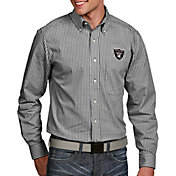 Antigua Men's Oakland Raiders Associate Button Down Dress Shirt