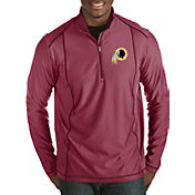 Antigua Men's Washington Redskins Tempo Red Quarter-Zip Pullover