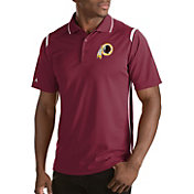 Antigua Men's Washington Redskins Merit Red Xtra-Lite Polo