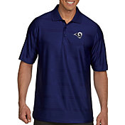 Antigua Men's Los Angeles Rams Illusion Navy Xtra-Lite Polo