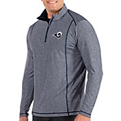 Antigua Men's Los Angeles Rams Tempo Navy Quarter-Zip Pullover
