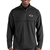 Antigua Men's Baltimore Ravens Prodigy Quarter-Zip Black Pullover
