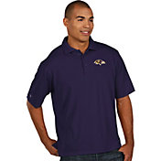 Antigua Men's Baltimore Ravens Pique Xtra-Lite Purple Polo