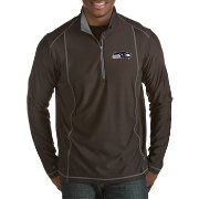 Antigua Men's Seattle Seahawks Tempo Black Quarter-Zip Pullover