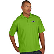Antigua Men's Seattle Seahawks Pique Xtra-Lite Green Polo