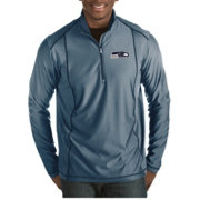 Antigua Men's Seattle Seahawks Tempo Navy Quarter-Zip Pullover