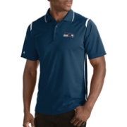 Antigua Men's Seattle Seahawks Merit Navy Xtra-Lite Polo