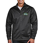Antigua Men's Seattle Seahawks Quick Snap Logo Grey Golf Jacket