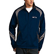 Antigua Men's Seattle Seahawks Tempest Navy Full-Zip Jacket