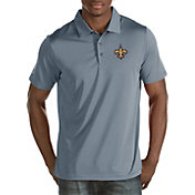Antigua Men's New Orleans Saints Quest Grey Polo
