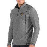 Antigua Men's New Orleans Saints Tempo Grey Quarter-Zip Pullover